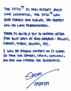 Steve Beeler FF50th Memo