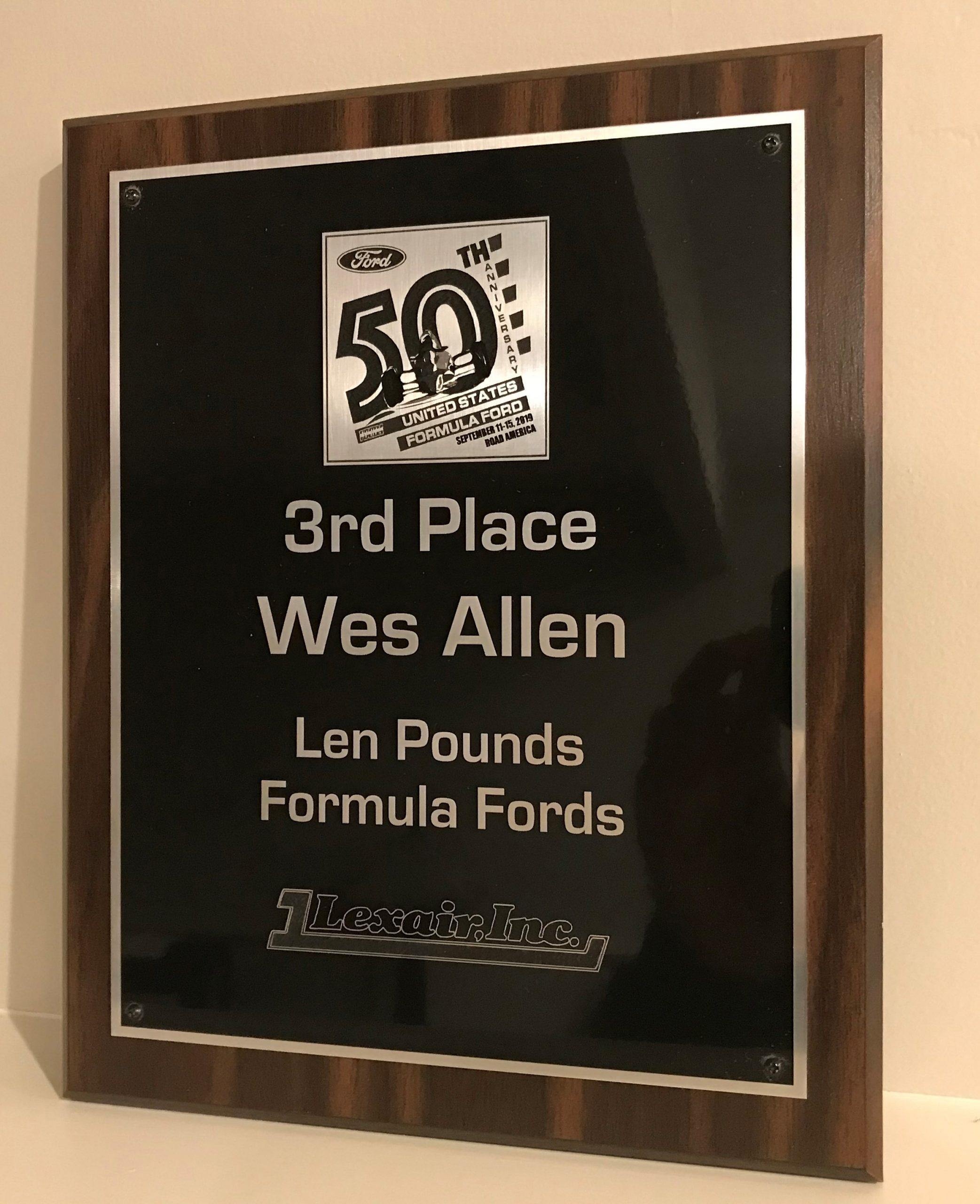 FF50th Award Plaque