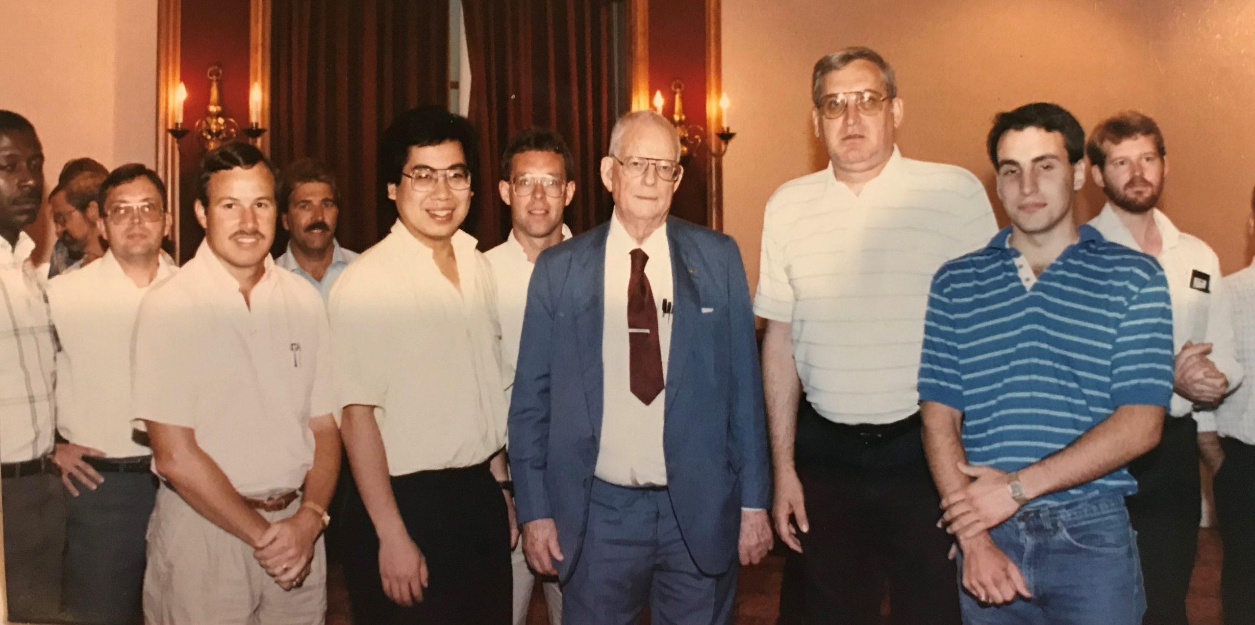 Mementos Steve Beeler with Dr Deming circa 1989