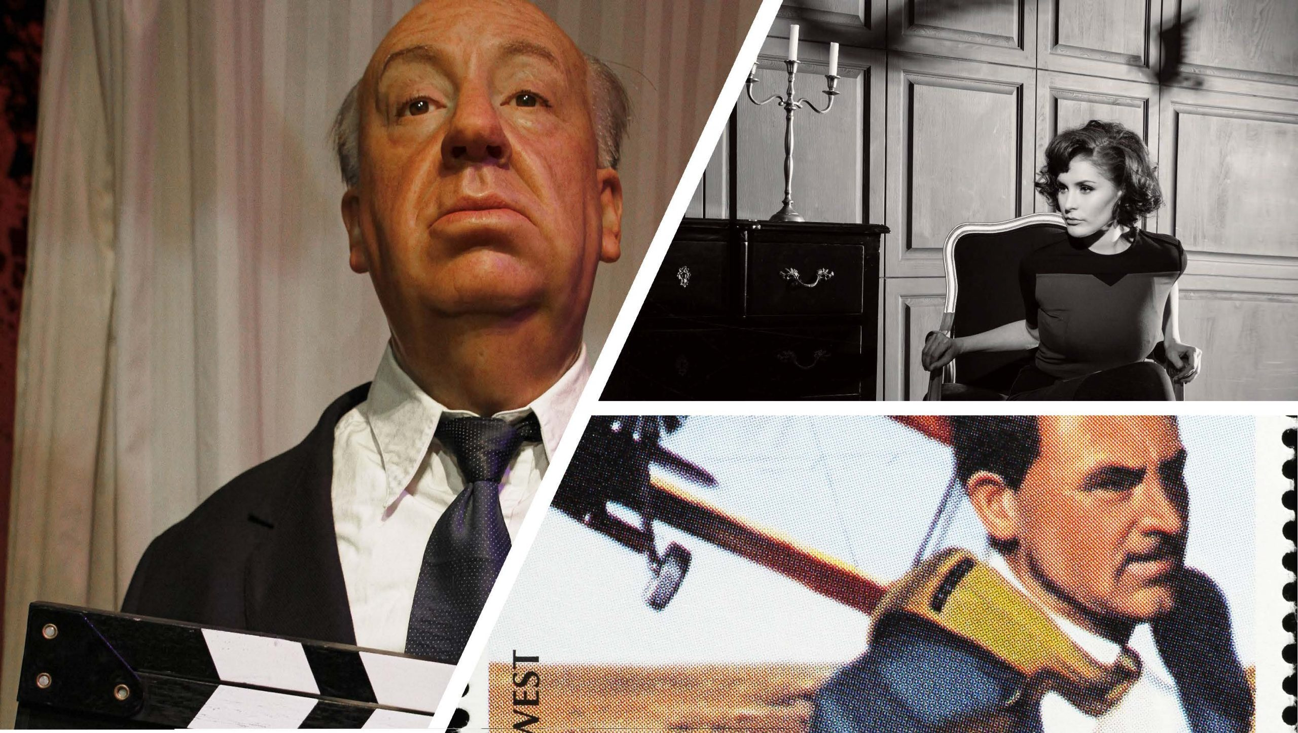 Alfred Hitchcock collage in a blog post about using McGuffins to build out your network
